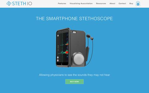 Screenshot of Home Page stethio.com - Steth IO | The Smartphone Stethoscope - captured Oct. 20, 2018