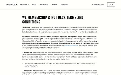 We Membership & Hot Desk Terms and Conditions | WeWork