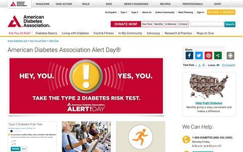 American Diabetes Association Alert Day®