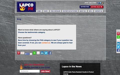 Screenshot of Blog lapco.com - Blog - LAPCO - captured Sept. 25, 2014