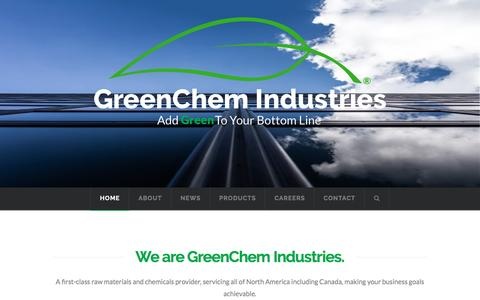 Screenshot of Home Page greenchemindustries.com - Home - GreenChem Industries - captured May 21, 2016