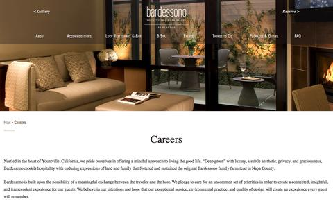 Screenshot of Jobs Page bardessono.com - Careers - Bardessono - captured April 14, 2018