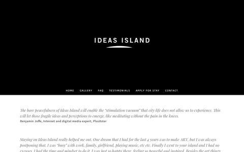 Screenshot of Testimonials Page ideasisland.com - Testimonials - Ideas Island - captured Oct. 14, 2017