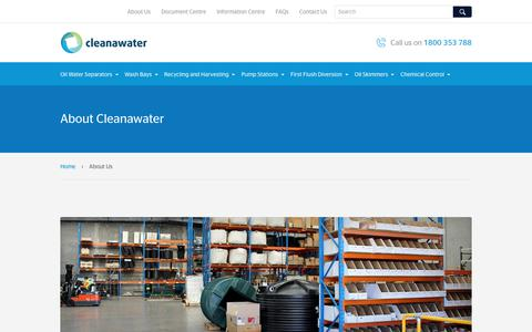 Screenshot of About Page cleanawater.com.au - About Us | Cleanawater - captured July 9, 2017