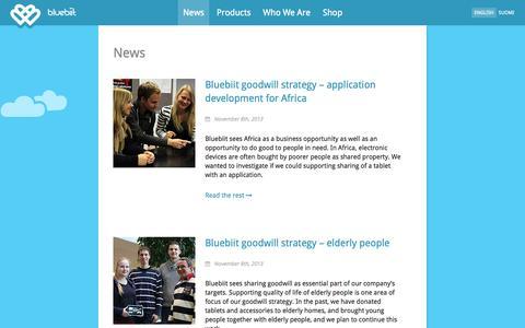 Screenshot of Press Page bluebiit.com - Bluebiit  » News - captured Oct. 5, 2014