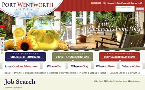 Screenshot of Jobs Page visitportwentworth.com - Job Search - Port Wentworth - Georgia - captured Sept. 28, 2018