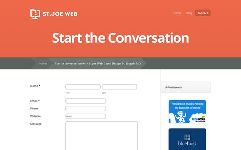 Screenshot of Contact Page stjoeweb.com - Start a conversation with St.Joe Web | Web Design St. Joseph, MO - captured Oct. 9, 2014