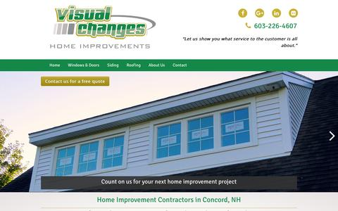 Screenshot of Home Page visualchangesnh.com - Home Improvement Company | Visual Changes: Concord, NH - captured June 21, 2016