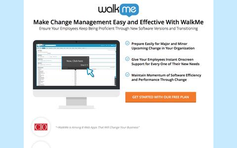 Screenshot of Landing Page walkme.com - Make Change Management Easy and Effective With WalkMe - captured Dec. 20, 2016