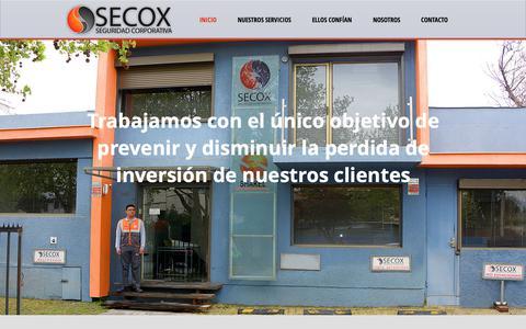 Screenshot of Home Page secox.cl - Secox - captured Nov. 15, 2018