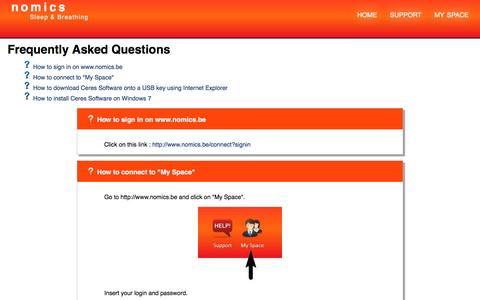 Screenshot of FAQ Page nomics.be - Nomics ∴ Nomics FAQ - captured May 10, 2017