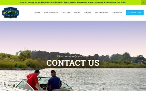 Screenshot of Contact Page boatlifthelper.com - CONTACT US — Boat Lift Installation and Removal | BOAT LIFT HELPER - - captured Feb. 7, 2016
