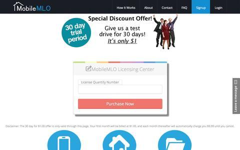 Screenshot of Trial Page mobilemlo.com - Signup - captured Dec. 6, 2016
