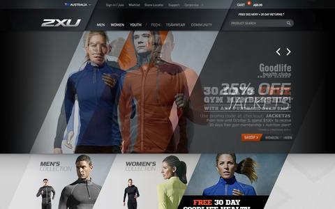Screenshot of Home Page 2xu.com.au - 2XU Compression, Fitness & Workout Gear   2XU - captured Sept. 18, 2014