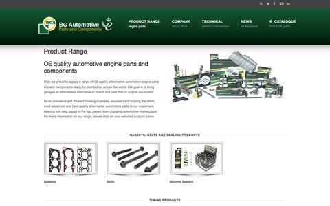 Screenshot of Products Page bgautomotive.co.uk - Product Range –  BG Automotive – Vehicle Parts and Components - captured July 31, 2018