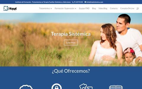 Screenshot of Home Page itadsistemica.com - ITAD Sistémica - captured Oct. 14, 2017