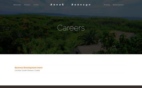 Screenshot of Jobs Page susak.si - Careers — Susak - Sansego - captured Oct. 20, 2018