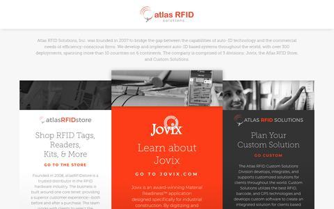 Screenshot of Home Page atlasrfid.com - Atlas RFID Home - Atlas RFID Solutions - captured Aug. 10, 2018