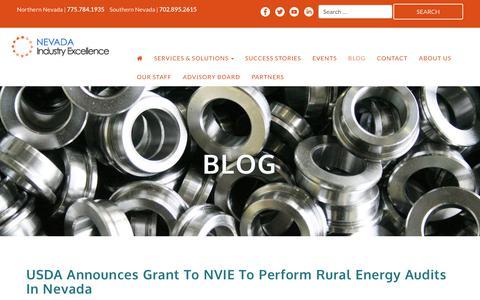 Screenshot of Blog nevadaie.com - Blog - Nevada Industry Excellence - captured Oct. 20, 2017