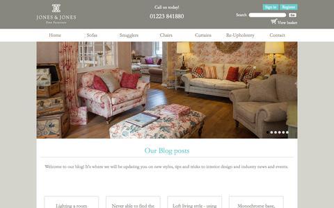Screenshot of Blog jandjfurniture.co.uk - Blog - captured Nov. 3, 2014