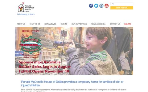 Screenshot of Home Page rmhdallas.org - | Ronald McDonald House of Dallas | The House That Love Built - captured Dec. 1, 2016