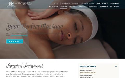 Targeted Treatments | Massage Therapy | Massage Heights
