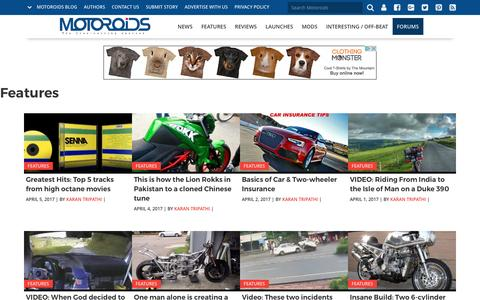 Features of Cars & Bikes | Travelogue | Interviews | Events - Motoroids