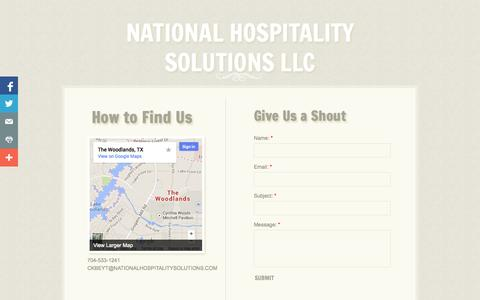 Screenshot of Privacy Page Contact Page nationalhospitalitysolutions.com - Contact - captured Oct. 27, 2014