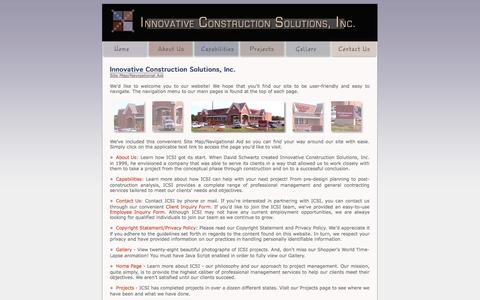 Screenshot of Site Map Page buildics.com - Innovative Constructions Solutions Inc - Use Our Site Map For Easy Navigation - captured Oct. 6, 2014