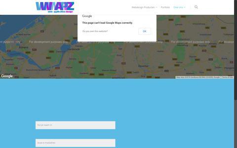 Screenshot of Contact Page wwwappz.nl - Contact – WwwappZ - captured Dec. 11, 2018