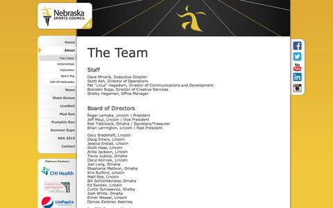 Screenshot of Team Page nebraskasportscouncil.com - NSC Team | Nebraska Sports Council - captured Aug. 12, 2016