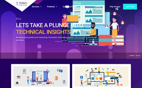 Screenshot of Blog tarikatechnologies.com - Blog - Tarika Technologies - captured Nov. 15, 2019