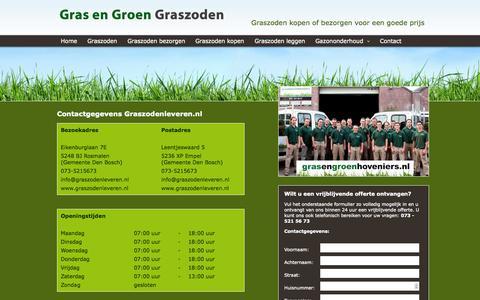 Screenshot of Contact Page graszodenleveren.nl - Contact met Graszodenleveren.nl - captured Oct. 3, 2014