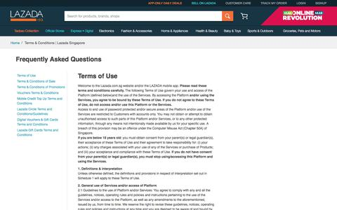 Terms & Conditions | Lazada Singapore