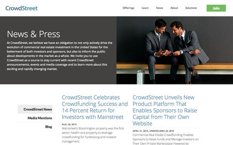 News & Press | CrowdStreet