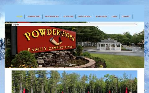 Screenshot of Home Page mainecampgrounds.com - Powder Horn | Camping | Old Orchard Beach | Maine - captured Jan. 30, 2016