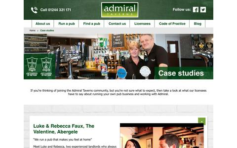 Screenshot of Case Studies Page admiraltaverns.co.uk - Case studies - captured May 29, 2017