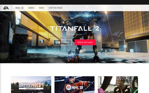 Screenshot of Home Page ea.com - Electronic Arts Home Page - Official EA Site - captured July 5, 2017