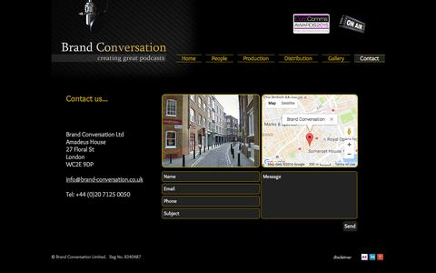 Screenshot of Contact Page brand-conversation.co.uk - Contact us - captured July 30, 2016