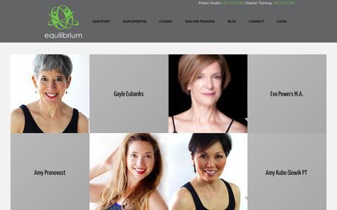 Screenshot of Team Page equilibriumstudio.com - Staff | Equilibrium Studio - captured Jan. 30, 2016