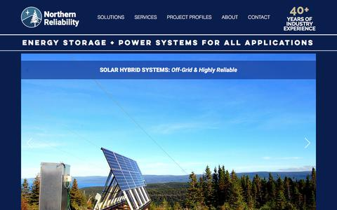 Screenshot of Home Page northernreliability.com - Energy Storage | United States | Northern Reliability - captured Sept. 20, 2018