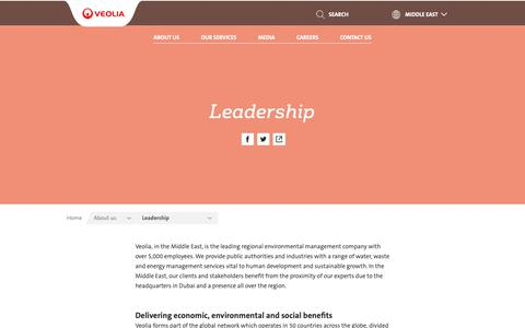 Screenshot of Team Page veolia.com - Leadership | Veolia Middle East - captured Oct. 24, 2018