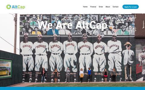 Screenshot of About Page alt-cap.org - About — AltCap - captured Nov. 10, 2018