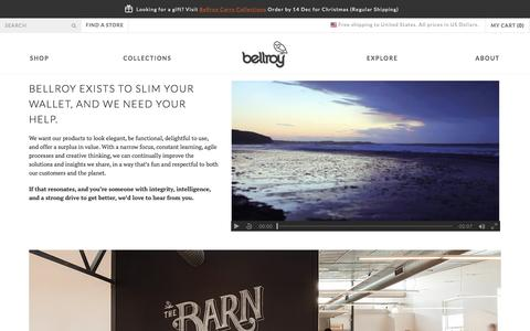 Bellroy Jobs - Slim Leather Wallets by Bellroy