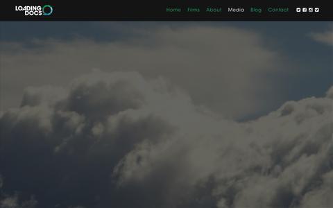 Screenshot of Press Page loadingdocs.net - Media - Loading Docs - captured Dec. 12, 2015