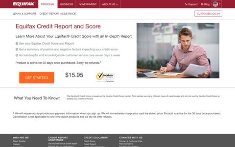 Equifax Credit Report and Credit Score | Equifax