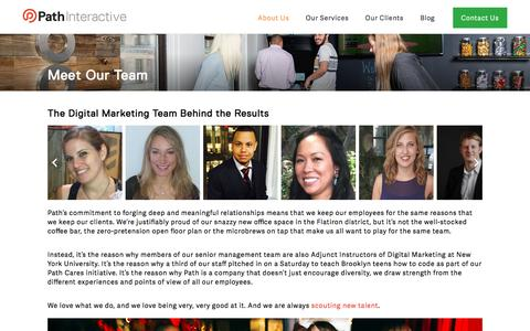 Screenshot of Team Page pathinteractive.com - Our Agency's Digital Marketing Team | Path Interactive - captured Sept. 14, 2016