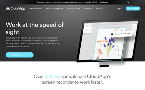 getcloudapp com's Web Marketing Designs | Crayon