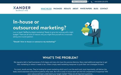 Should you outsource SaaS marketing? Xander Marketing