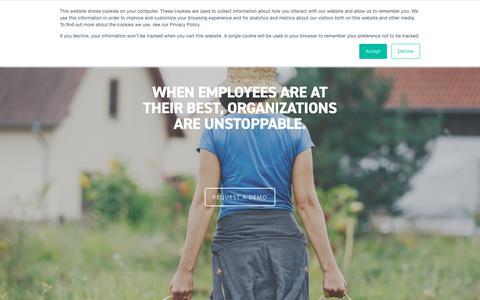 Screenshot of Home Page adurolife.com - Go Beyond Corporate Wellness Programs with ADURO - captured March 20, 2019
